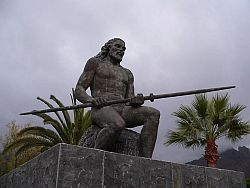 Statue of Guanche king Tinerfe, Adeje