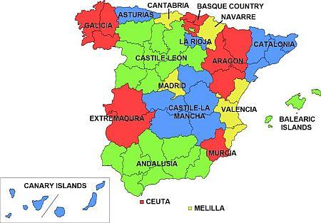 Tenerife's autonomous regions