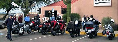 group of motorcyclists