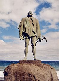 Statue of one of the Guanche Menceys in Candelaria