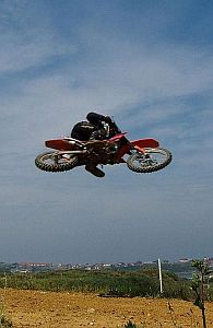motocross rider making a jump