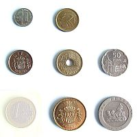 peseta coins