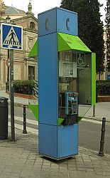 Spanish phone booth