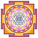 Sriyantra Hindu symbol