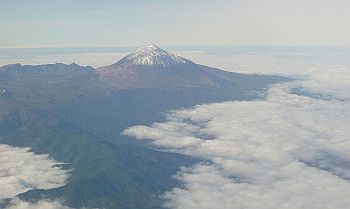 Mount Teide from the air