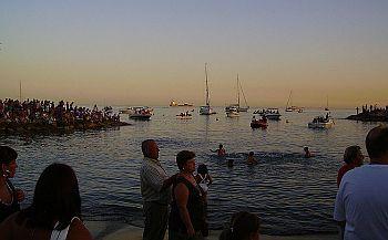 Virgen del Carmen procession into the sea