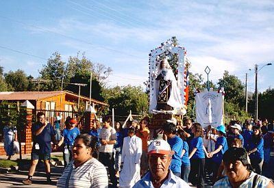 Virgen del Carmen procession
