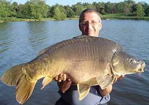 angler with carp