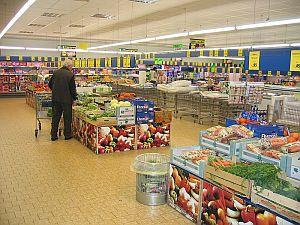 Lidl store interior