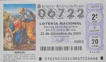 Spanish lottery ticket