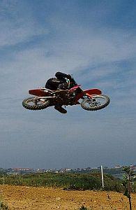 motocross rider making a jump