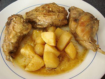 pollo con ajo