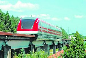 Transrapid Train, proposed for Tenerife