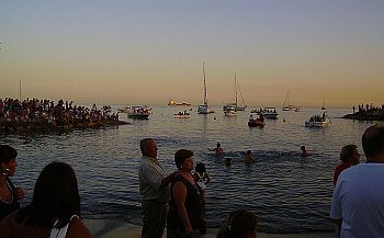Virgen del Carmen procession into the sea